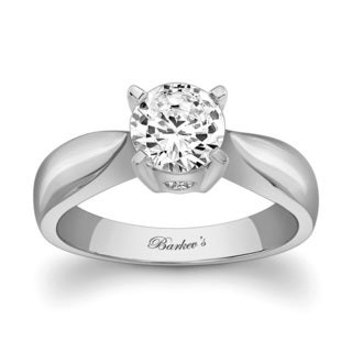Barkev's Designer 14k White Gold Round-cut Solitaire Diamond Engagement Ring (F-G, SI1-SI2)