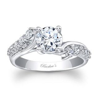 Barkev's Designer 14k White Gold Round-cut Diamond Engagement Ring (F-G, SI1-SI2)