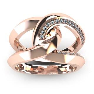 Super Bold And Gorgeous 1/4 Carat Diamond Band In 14K Rose Gold (I-J, I1-I2)