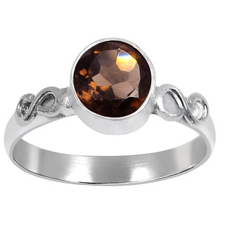 Orchid Jewelry's Nice Brass Ring with 1.20 Carat Weight Genuine Smoky Quartz