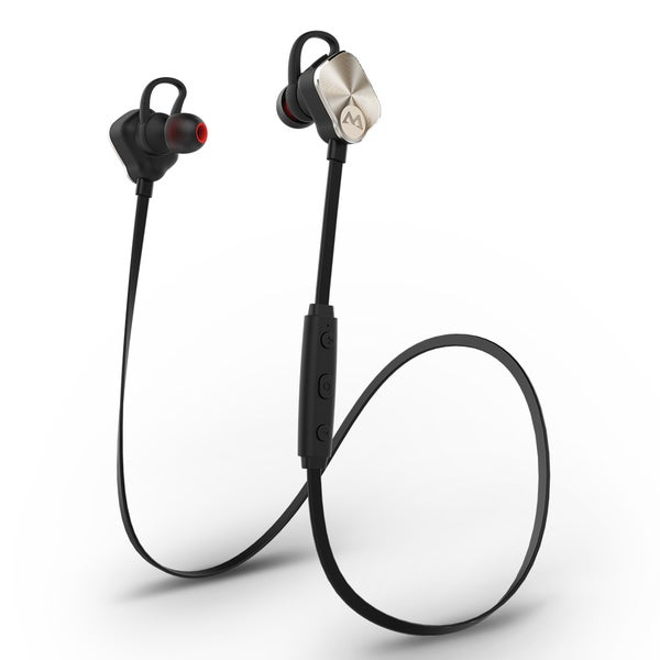 Mpow Magneto Wearable Bluetooth 4.1 Sports Headphones In-ear apt-X Stereo Headsets, Gold