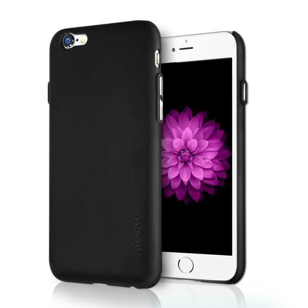 Mpow Ultra Slim Non-Slip In-and-Out Black Scratch-proof TPU/ PC Case for iPhone 6/ 6s