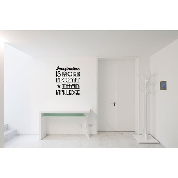 Imagination Is More Important quote Wall Art Sticker Decal