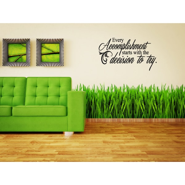 The words Decision to Try Wall Art Sticker Decal