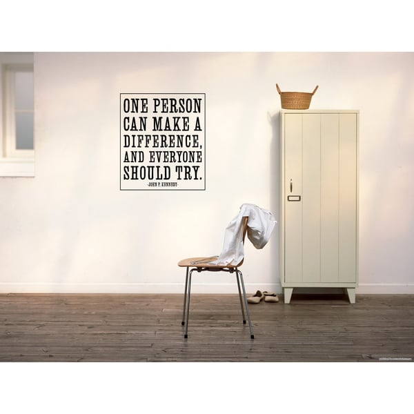 Make A Difference quote Wall Art Sticker Decal
