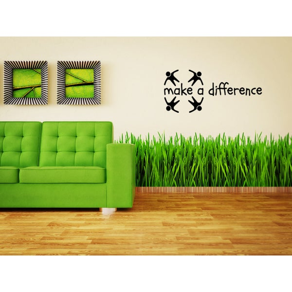 People Make A Difference Wall Art Sticker Decal