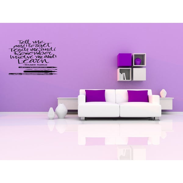 Involve Me, I Learn quote Wall Art Sticker Decal