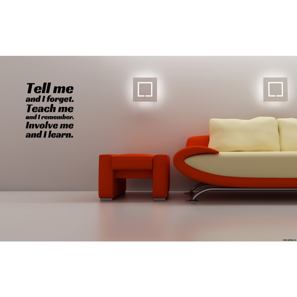 Expression Involve Me, I Learn Wall Art Sticker Decal