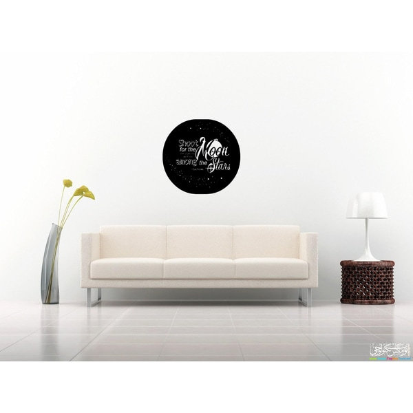 Expression Shoot For the Moon! Wall Art Sticker Decal