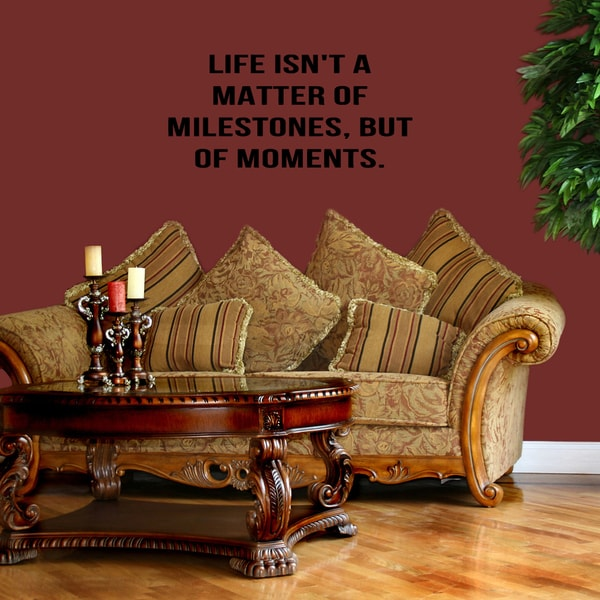 Life is a Matter of Moments quote Wall Art Sticker Decal