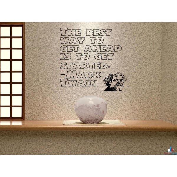 To Get Ahead, Get Started quote Wall Art Sticker Decal