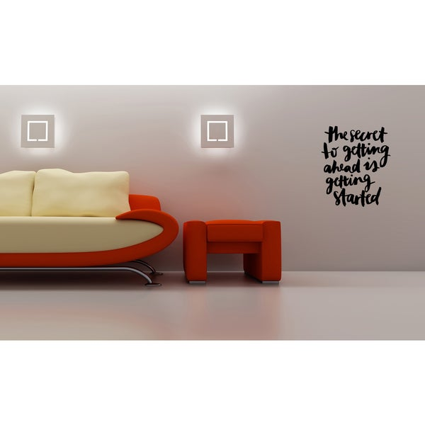 Expression To Get Ahead, Get Started Wall Art Sticker Decal