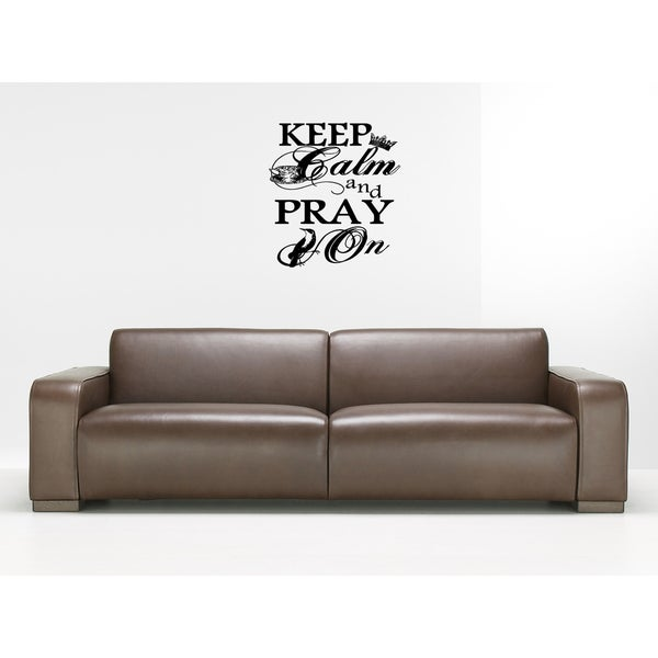 Keep Calm And Carry On quote Wall Art Sticker Decal