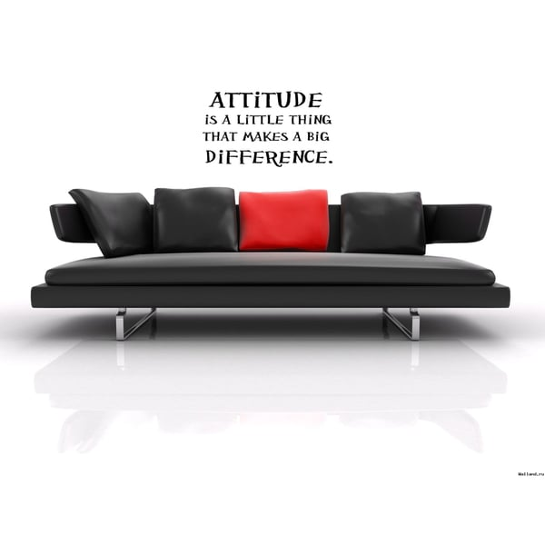 Attitude Makes a Difference quote Wall Art Sticker Decal