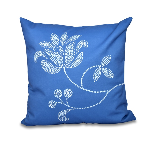 Traditional Flower-Single Bloom Floral Print 20-inch Throw Pillow