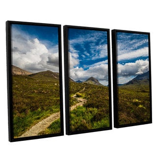 ArtWall Steve Ainsworth's 'Heart Of The Mountains' 3-piece Floater Framed Canvas Set