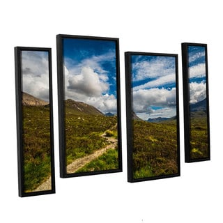 ArtWall Steve Ainsworth's 'Heart Of The Mountains' 4-piece Floater Framed Canvas Staggered Set