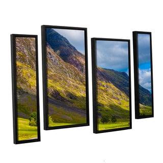 ArtWall Steve Ainsworth's 'Highland Hillside' 4-piece Floater Framed Canvas Staggered Set
