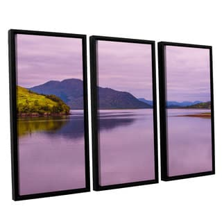 ArtWall Steve Ainsworth's 'Meeting Of The Waters' 3-piece Floater Framed Canvas Set