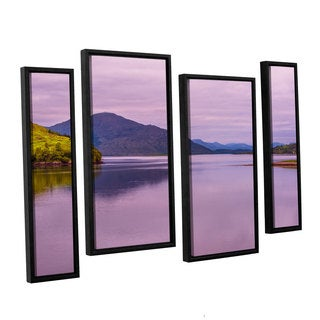 ArtWall Steve Ainsworth's 'Meeting Of The Waters' 4-piece Floater Framed Canvas Staggered Set