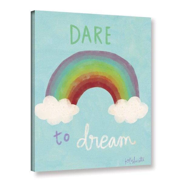 ArtWall Katie Doucette's 'Dare To Dream' Gallery Wrapped Canvas 17786512