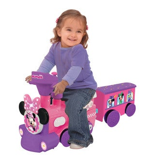 Kiddieland Disney Minnie Mouse Ride-On Motorized Train with Track - Purple/Pink