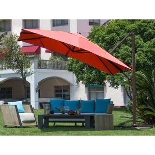 Abba Patio 10 ft Square Outdoor Umbrella, Dark Red