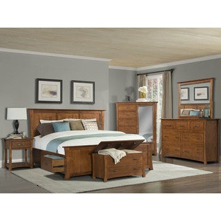 Simply Solid Avett Solid Wood 7-piece Queen Bedroom Collection