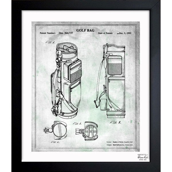 'Golf Bag 1995' Framed Blueprint Art