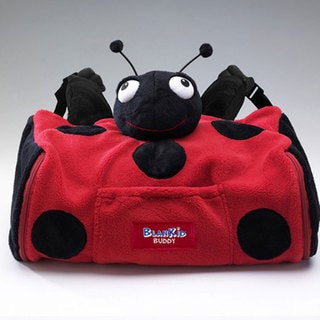 BlanKid Buddy Lula the Ladybug 4-in-1 Backpack, Blanket, Pillow, and Plush Animal