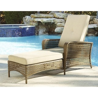 Cosco Lakewood Ranch Steel Chaise Lounge Chair with Woven Side Skirt