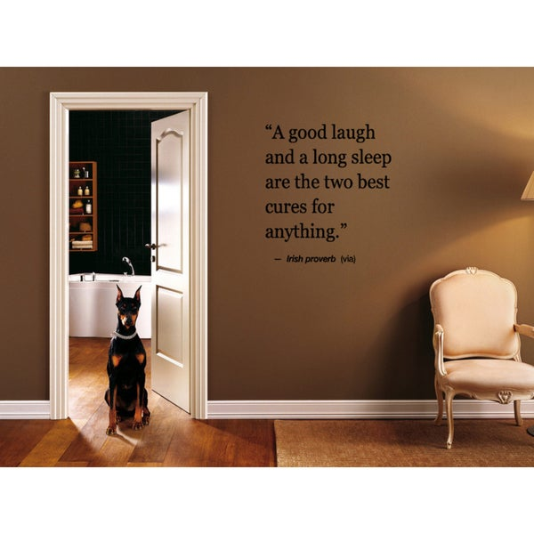 Laughter and Sleep are Best Cures quote Wall Art Sticker Decal