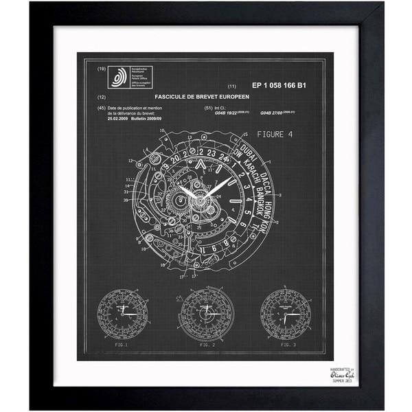 'World Time Watch 2009' Framed Blueprint Art