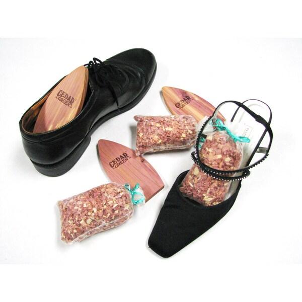 Aromatic Cedar Shoe Care Kit, 12-piece set