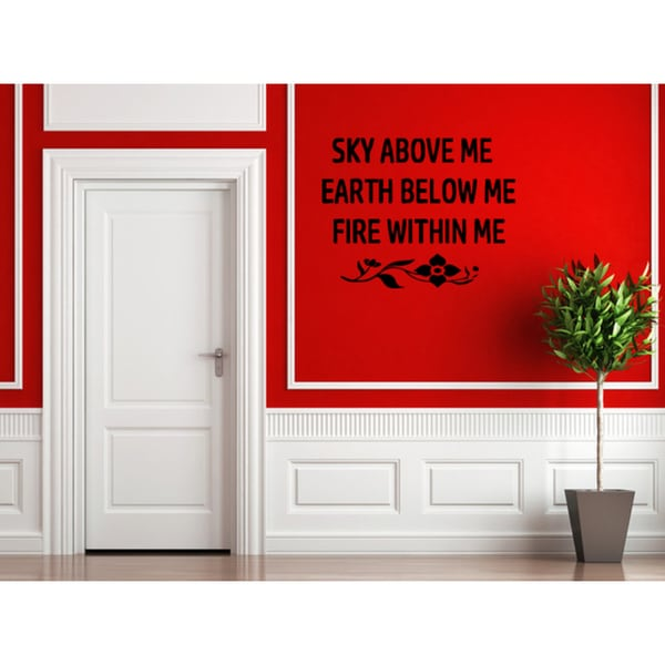 Expression Within Me quote Wall Art Sticker Decal