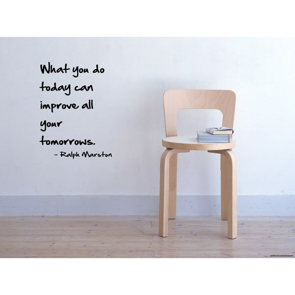 Phrase Improve Your Tomorrows Wall Art Sticker Decal