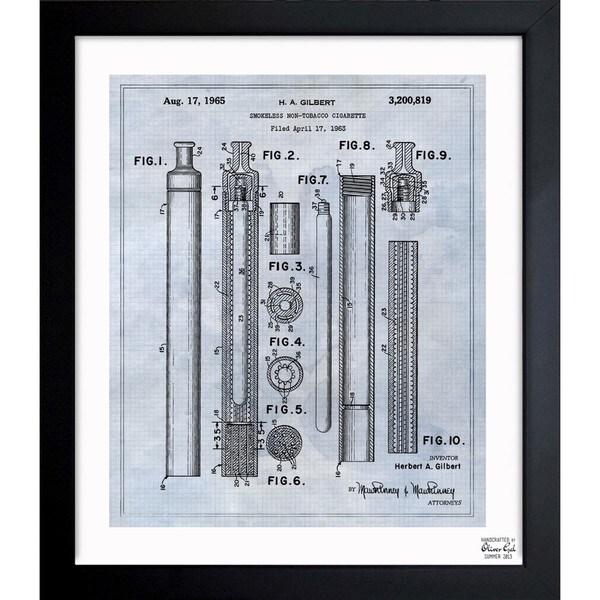 'Smokeless Non-Tobacco Cigarette 1965' Framed Blueprint Art