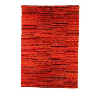 M.A.Trading Indian Hand-woven Mat Mix Rust Rug (4'6 x 6'6)