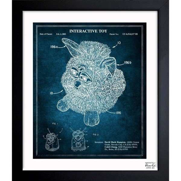 'Furby 2003' Framed Blueprint Art