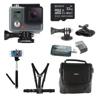 GoPro HERO HD Action Camera with 32GB Deluxe Accessory Bundle