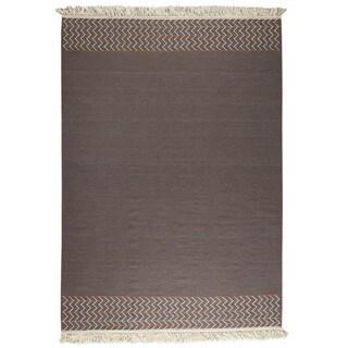 M.A.Trading Indian Hand-woven Valparaiso Brown Rug (8'3 x 11'6)