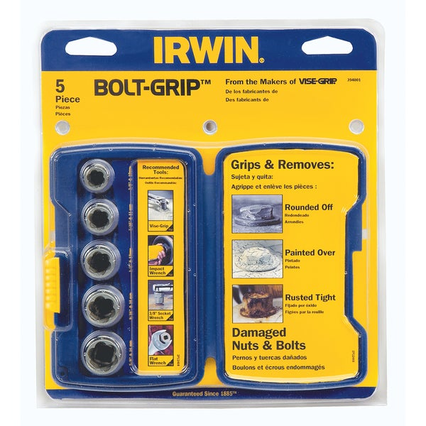 Irwin 394001 5-piece Bolt Extractor Set