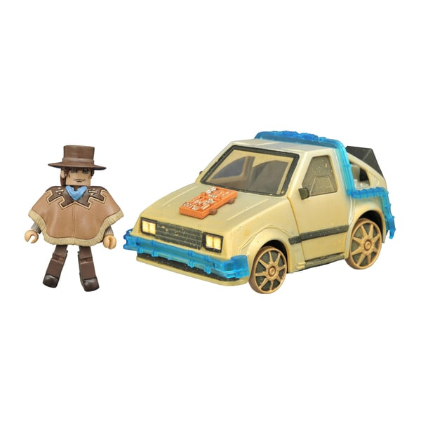 Diamond Select Toys Back to the future Minimates Rail Ready Time Machine 17788156