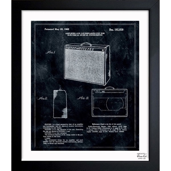 'Amplifier 1962' Framed Blueprint Art
