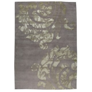 Indian Hand-knotted Almeria Silver Rug (8'3 x 11'6)