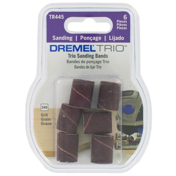 """Dremel TR445 6-count 3/16"""" 240 Grit Trio Sanding Bands"""