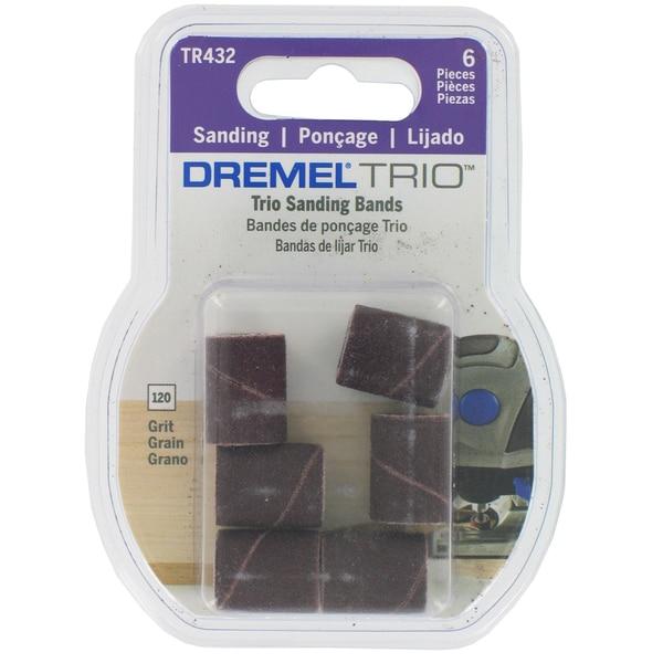 Dremel TR432 6-count 3/16-inch 120 Grit Trio Sanding Bands