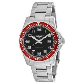 Longines Men's L36894596 HydroConquest Round Silver-tone Stainless Steel Bracelet Watch