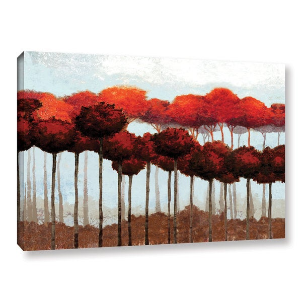 Pied Piper's ' Fall Red Trees' Gallery Wrapped Canvas 17788932