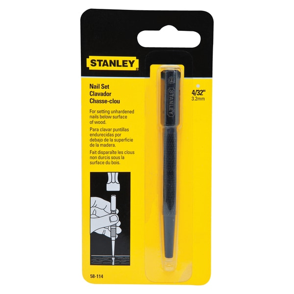 """Stanley Hand Tools 58-114 4/32"""" Tip Nail Set 17788976"""